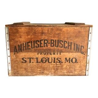 Vintage Anheuser-Busch Wooden Beer Crate
