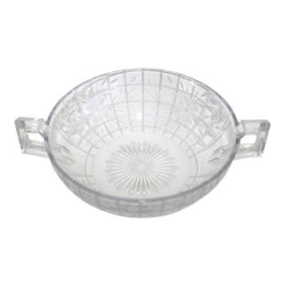 Art Deco Crystal Bowl with Handles