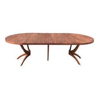 Round Spider Leg Walnut Dinning Table