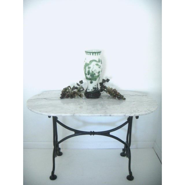 White Italian Marble Console/Bistro/Dining Table - Image 6 of 8