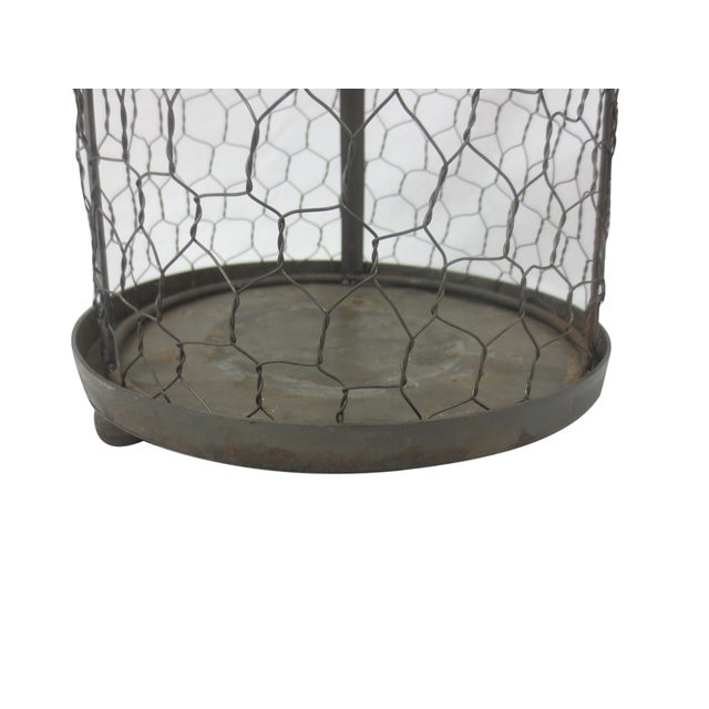 Image of Caged Bird Pillar Candle Holder