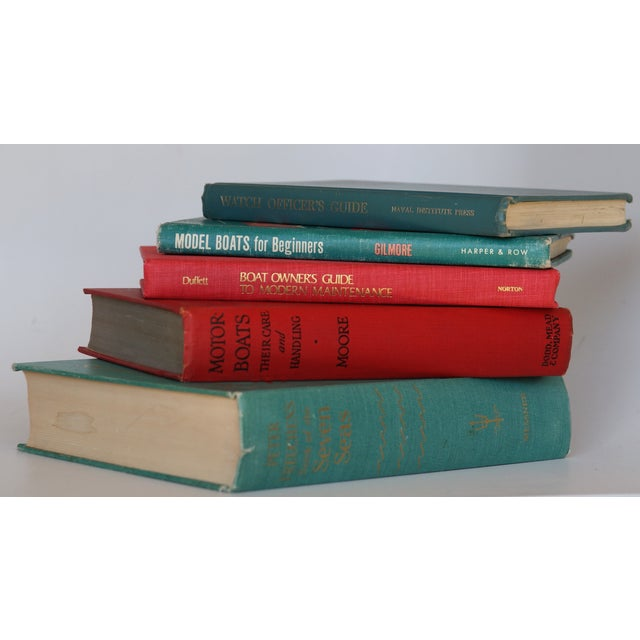 Image of Vintage Nautical Books - Set of 5