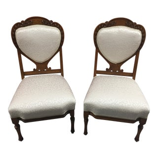 Antique Accent Chairs - Pair