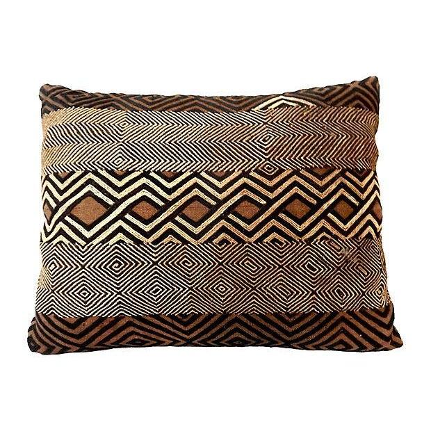 African Kuba Raffia Pillow - Image 6 of 7