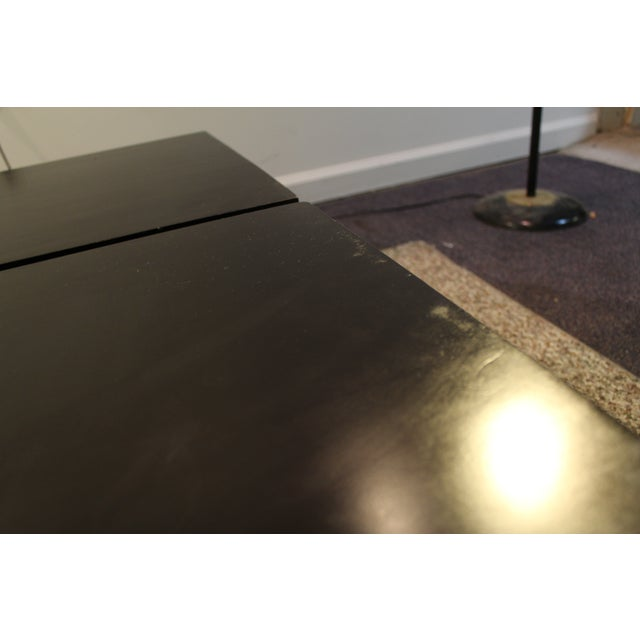 Mid Century Modern Ebonized Coffee Tables - Pair - Image 6 of 11