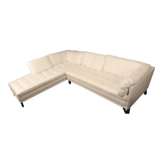 Roche Bobois Rivage White Leather Sectional Sofa