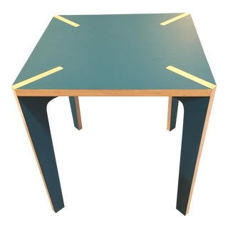 Blue Modern Design French Table X Wood
