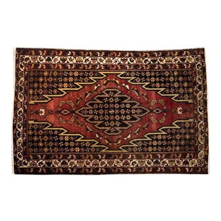 Unusual Kurdish Maslaghan Rug with Central Medallion, Early 20th Century