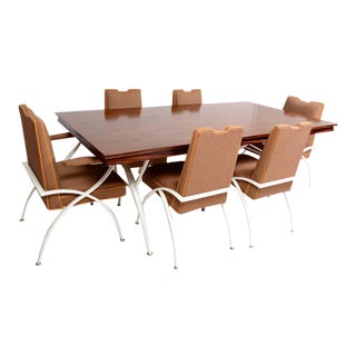 Mexican Modernist Mid-Century Modern Dining Rosewood Table with Chairs