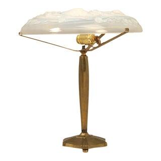 Circa 1930 French Bronze Art Deco Lamp