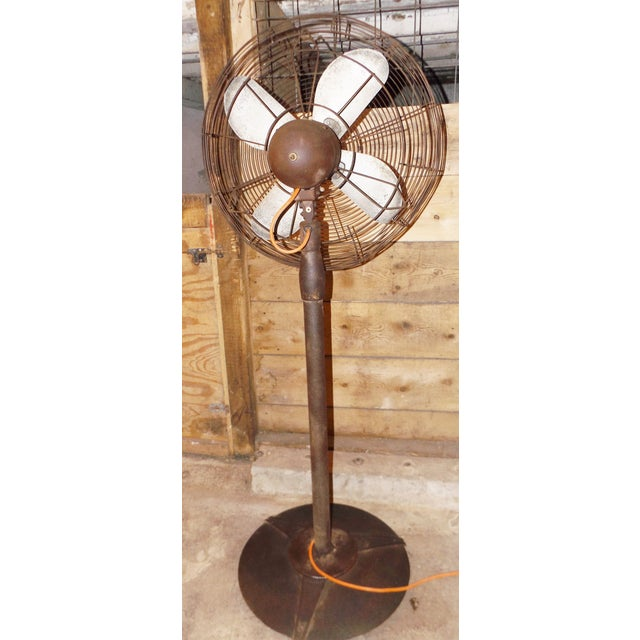 """Big Old Hunter Industrial Pedistal Fan 5' 8"""" Tall - Image 4 of 8"""