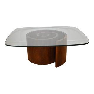 Walnut Snail Coffee Table by Vladimir Kagan