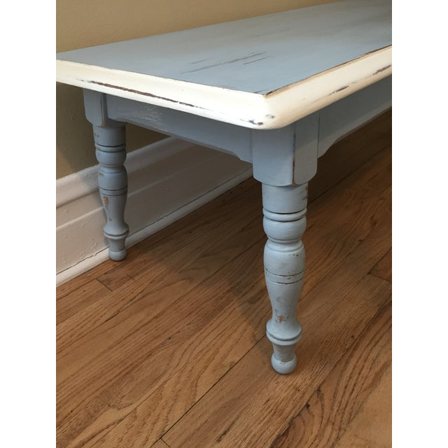 Vintage Hand Painted Coffee Table/Entryway Bench - Image 5 of 6
