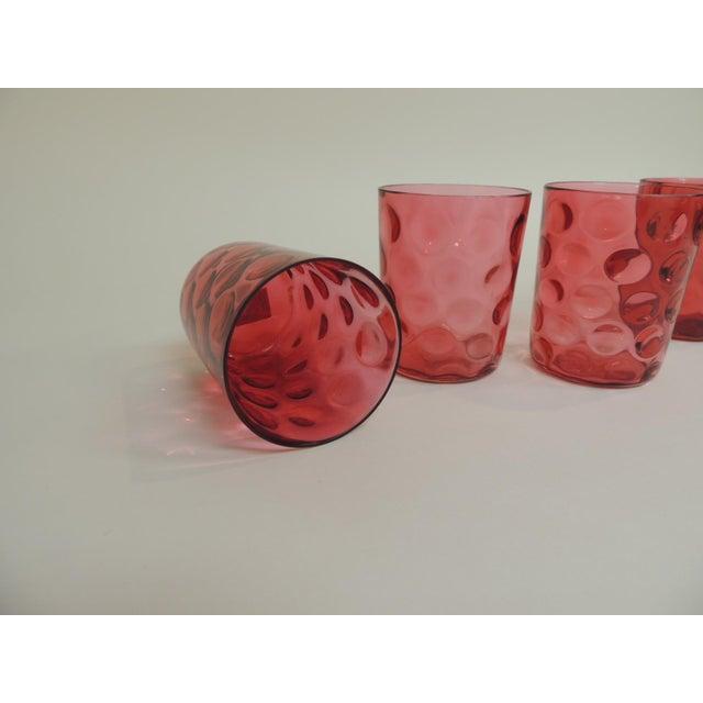 Antique Cranberry Reversed Tumblers - Set of 4 - Image 4 of 5