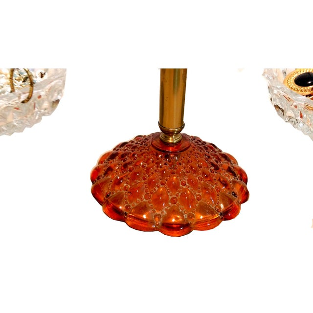 Image of Vintage Crystal & Amber Glass Scales of Justice