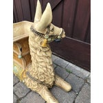 Image of Vintage Palm Beach Hollywood Regency Resin Llama Planter