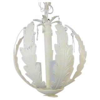 White Metal Pendant Light