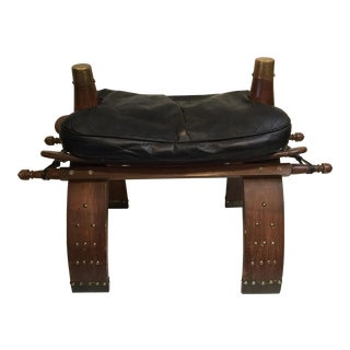 Large Camel Saddle Footstool