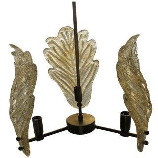 Hollywood Regency Gold Murano Glass Pendant