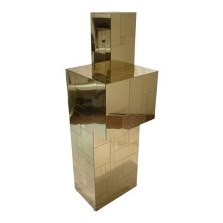 Paul Evans for Directional Brass Cityscape Pedestal