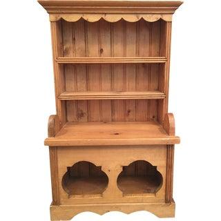 Vintage Miniature Irish Pine Dresser