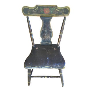 Antique Hand-Painted Early American Side Chair