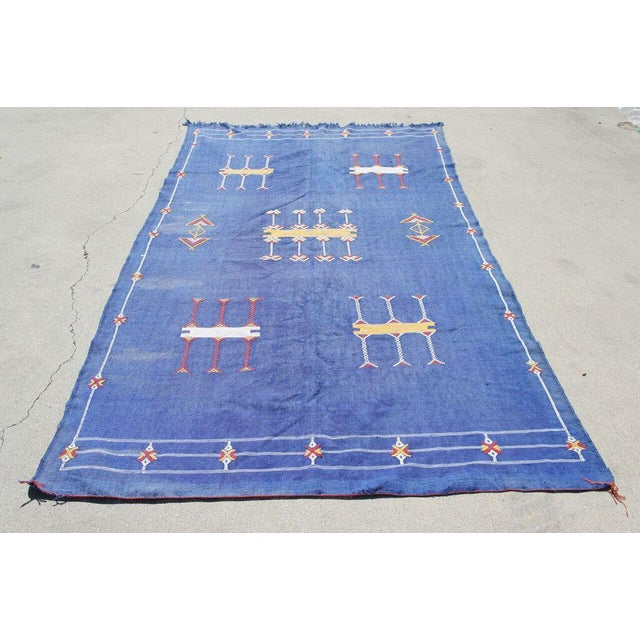 "Moroccan Indigo Blue Cactus Silk Rug- 4'5"" x 8' - Image 2 of 6"