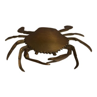 Andrea by Sadek Brass Crab Ashtray