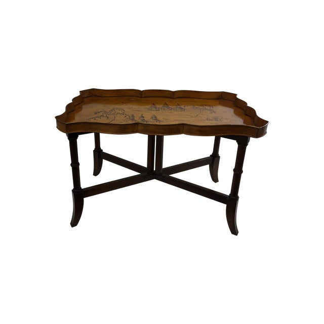 Faux Bamboo & Painted Metal Coffee Table - Image 1 of 6