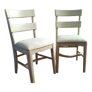 Vintage Shabby Chic Upholstered Chairs - a Pair