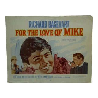 "1960s Vintage Movie Poster ""For the Love of Mike"" by Richard Basehart"