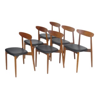 Harry Ostergaard Teak Dining Chairs