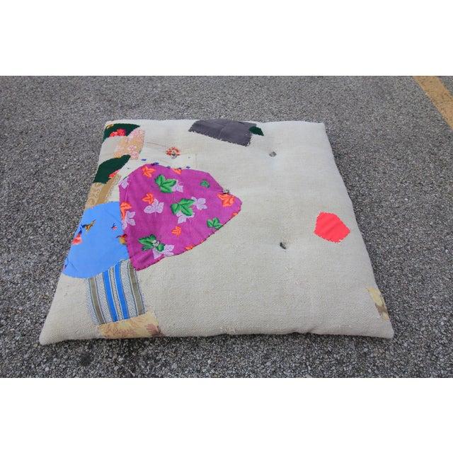 Vintage Turkish Hemp Floor Pillow Chairish