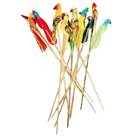 Birds of Paradise Cocktail Stirrers - Set of 12 - Image 1 of 6
