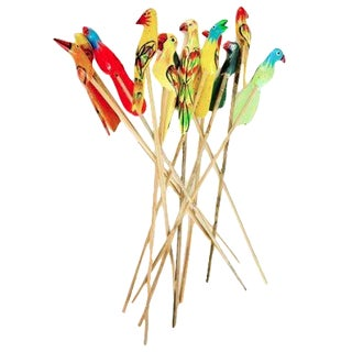 Birds of Paradise Cocktail Stirrers - Set of 12