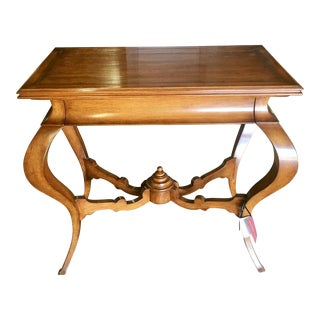 Signed Quadrus Studios Venetian Walnut Console Table