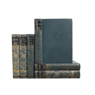 1920's Gilt on Teal: Joseph Conrad, S/6