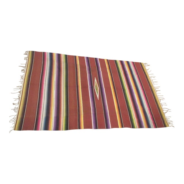 Horny vintage mexican blanket
