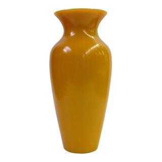 Chinese Yellow Peking Glass Vase
