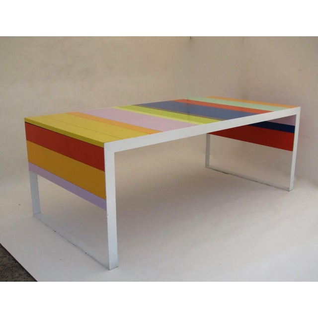 Image of Memphis Modern Style Multi Color Table Desk