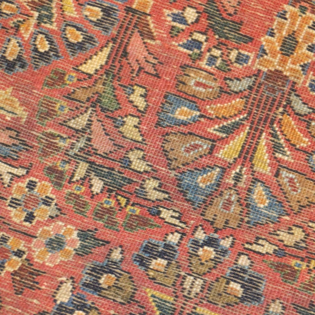 "Antique Persian Sarouk Runner Rug 4' x 2'1"" - Image 4 of 5"