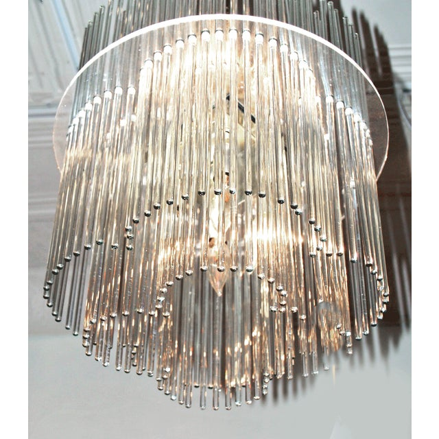 Sciolari Style Clover Glass Chandelier - Image 4 of 4