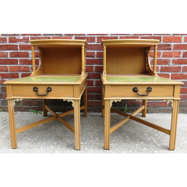 Image of Vintage 1939 Imperial Mahogany End Tables - Pair