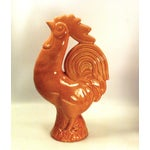 Image of La Mirada Pottery Salmon Pink Roosters - A Pair