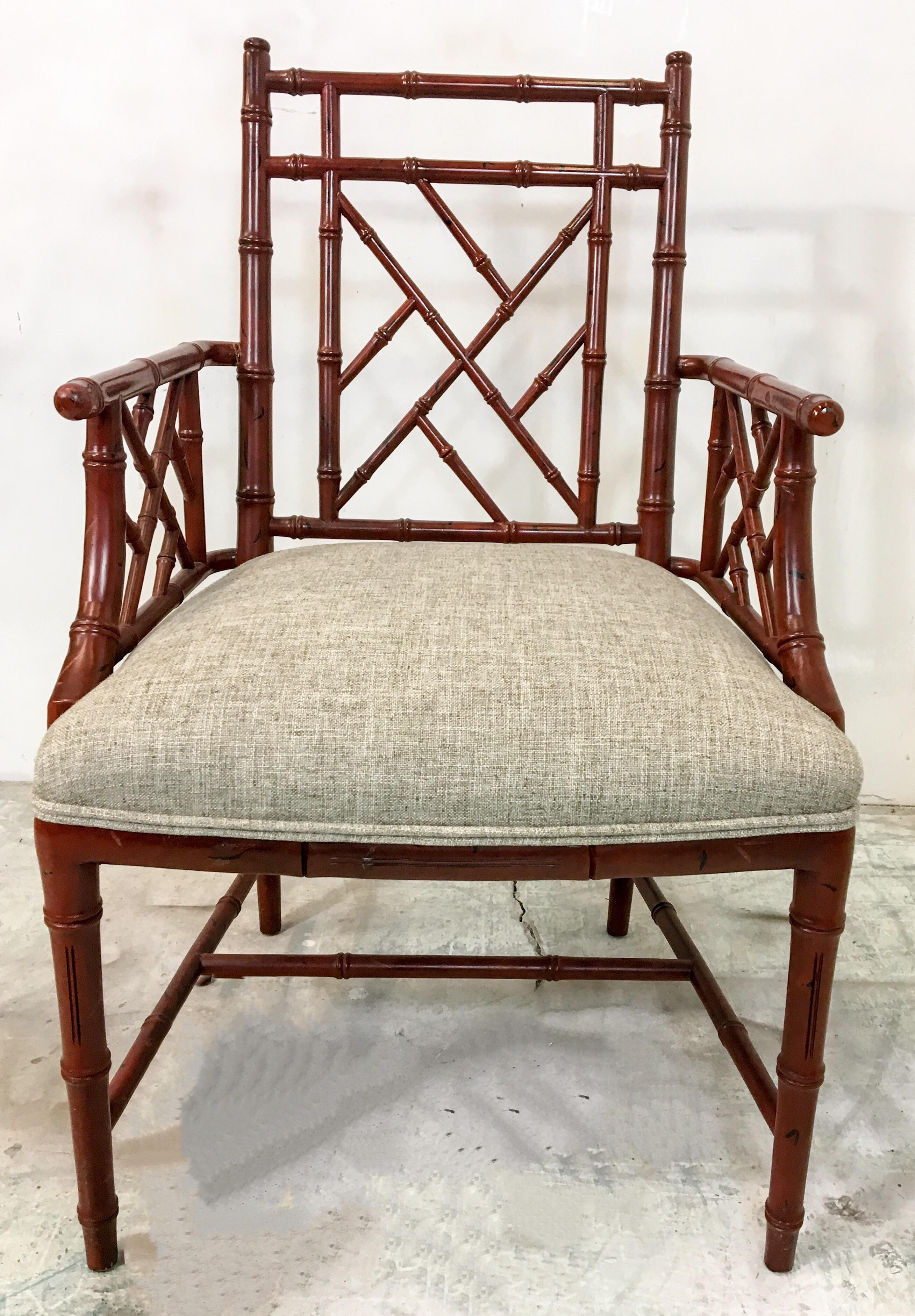 Century Faux Bamboo Chairs   Set Of 10   Image 5 Of 7