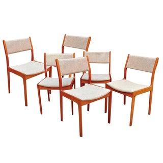 D-Scan Danish Teak Dining Chairs Set of 6