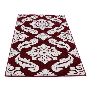 "Transitional Red Vine Pattern Rug - 2'8"" X 5'"