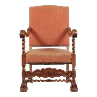 1920s English Baroque Armchair