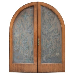 Pair of Art Nouveau Etched Glass Doors