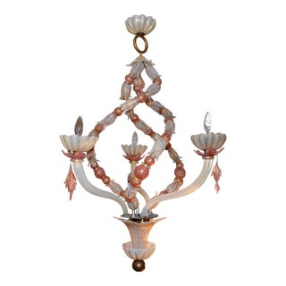 Two Toned Venini Glass Chandelier